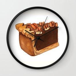Pecan Pie Slice Wall Clock