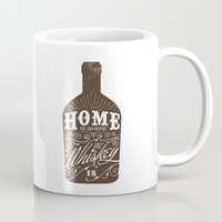 whiskey Mugs featuring Whiskey by irosebot