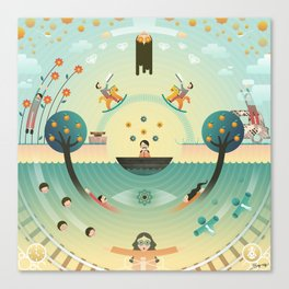 LSD (Lucy In The Sky With Diamond) Canvas Print