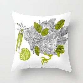 Graou Throw Pillow