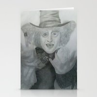 mad hatter Stationery Cards featuring Mad hatter by crazy_feline