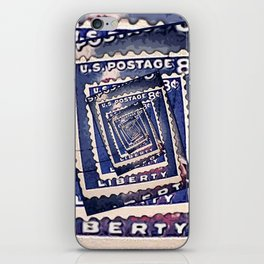 Spinning Stamps of Liberty iPhone Skin