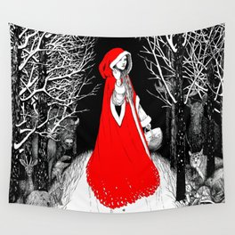 Red Riding Hood and the Wolf Wall Tapestry