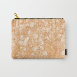 Blush pink rose gold glitter floral Carry-All Pouch