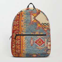 Moroccan 19th Century Authentic Colorful Baby Blue Vintage Patterns Backpack