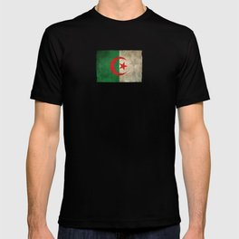 Old and Worn Distressed Vintage Flag of Algeria T-shirt