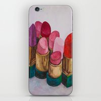 lipstick iPhone & iPod Skins featuring Lipstick by HOMartistry