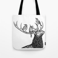 river song Tote Bags featuring Song by Natalie Toms Illustration
