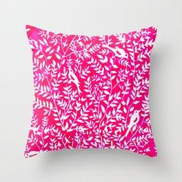 Wonderlust Pink#Birds let's run away Throw Pillow