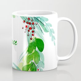 Deck the Halls Holiday Wreath Coffee Mug