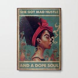 Afro Pride Afro Mad Hustle Metal Print