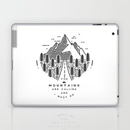 The mountains are calling and I must go- Nordic Laptop & iPad Skin