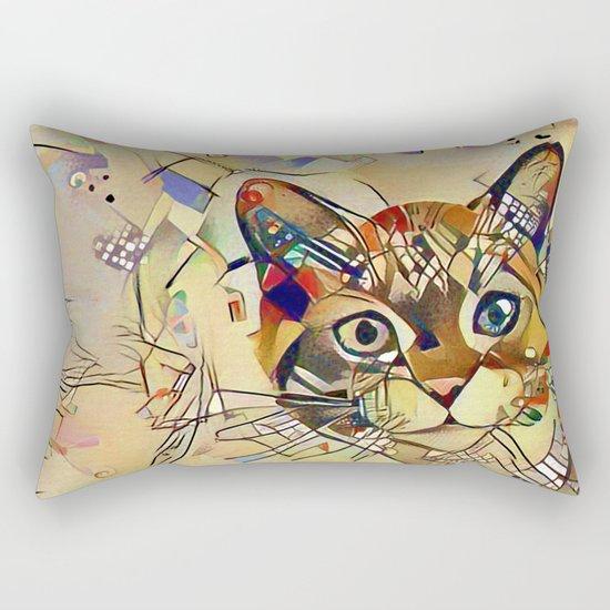 Cat Basil Rectangular Pillow