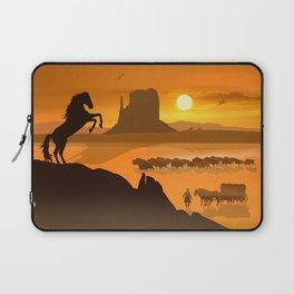 Freedom for the black stallion Laptop Sleeve