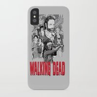 walking dead iPhone & iPod Cases featuring Walking Dead by Matt Fontaine Creative