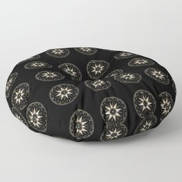 Mariner's Compass Pattern Floor Pillow