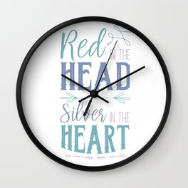 Red in the Head Wall Clock