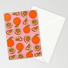 Orange Print Stationery Cards