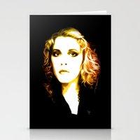 stevie nicks Stationery Cards featuring Stevie Nicks - Dreams - Pop Art by William Cuccio aka WCSmack