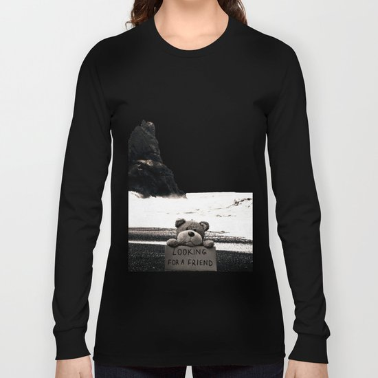 Teddy Looking for a Friend Long Sleeve T-shirt