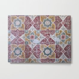 Geometric Wall Pattern Metal Print