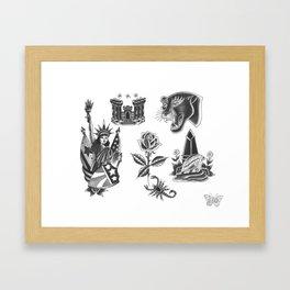 "Shon Lindauer Rework by Jacob ""Jackass"" Olson Framed Art Print"