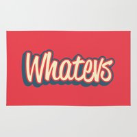 whatever Area & Throw Rugs featuring Whatever. by Word Quirk