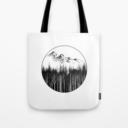 Near the mountain/ Near the forest Tote Bag