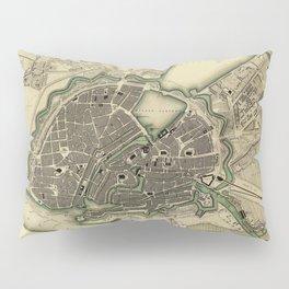 Map Of Hamburg 1841 Pillow Sham