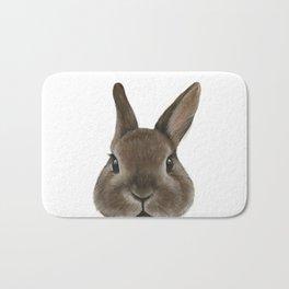 Netherland Dwarf rabbit illustration original painting print Bath Mat
