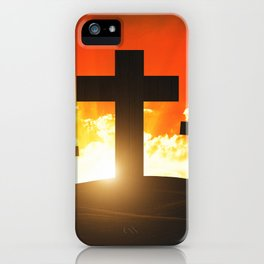Good friday easter ressurection iPhone Case
