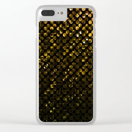 Crystal Bling Strass Gold G321 Clear iPhone Case