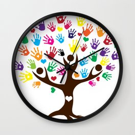 People Tree of Humanity Wall Clock