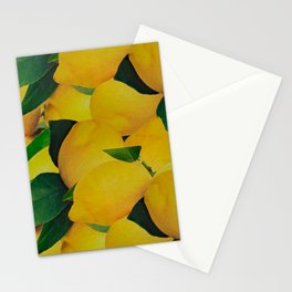 Old Gold Lemons Stationery Cards