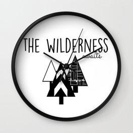 The Wilderness Awaits Wall Clock