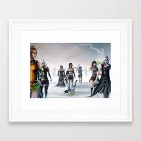 final fantasy Framed Art Prints featuring Final Fantasy by ssst