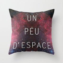 a little bit of space Throw Pillow
