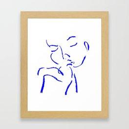 Girl with flower Framed Art Print