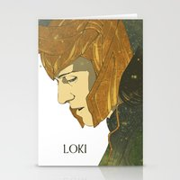 loki Stationery Cards featuring Loki  by Pulvis