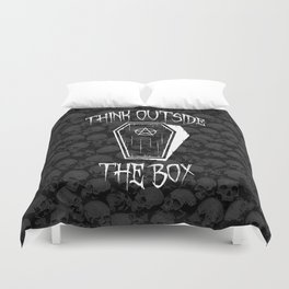 Think Outside The Box Goth Coffin Humour Duvet Cover