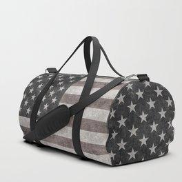 American flag, Retro desaturated look Duffle Bag
