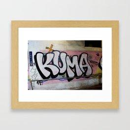 KUMA Graffiti Item Framed Art Print