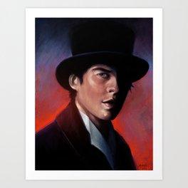 Damon in a Tophat Art Print