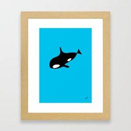killer whale blue Framed Art Print