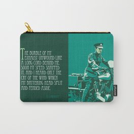 T.E. Lawrence on his Brough Superior Carry-All Pouch