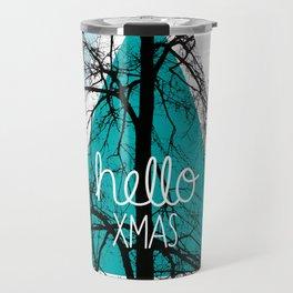 Hello christmas - winter tree geometric photography print Travel Mug