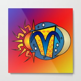 astrology,Aries,March, Metal Print