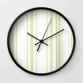 GREEN WHITE Wall Clock