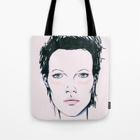 kate moss Tote Bags featuring Moss by Lexi Edwards