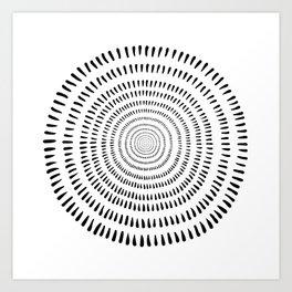 Fjorn on white Art Print